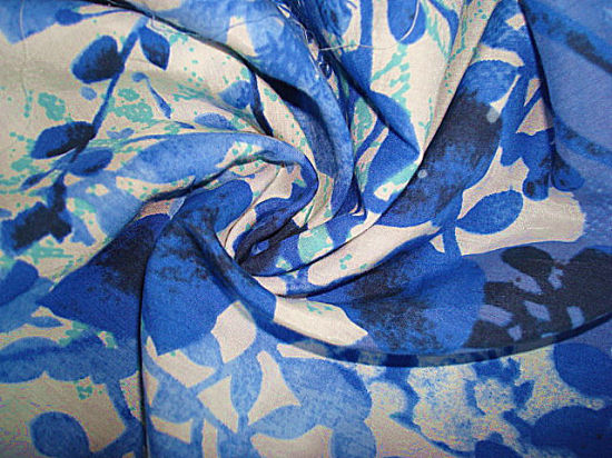 Print Silk Cotton Interweave Poplin Fabric