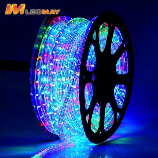 China multi color 4 wire flat vertical led rope light ce rohs multi color 4 wire flat vertical led rope light ce rohs mozeypictures Images