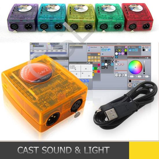 USB DMX Interface DJ Controller Lighting Sunlite Software