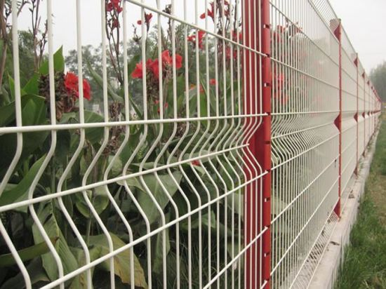 Green Plastic Coated Security Welded Wire Mesh Fence Panel pictures & photos