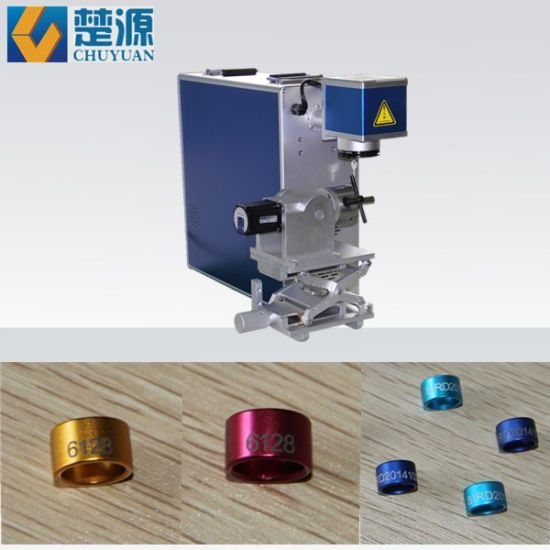 [Hot Item] 10W 20W 30W Rotary Attached Laser Marking Machine for Bird  Rings/Pigeon Rings/Bird Leg Bands