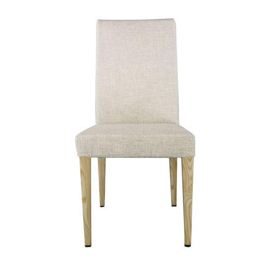 Matel French Wooden Luxury Upholstered Velvet Fabric Wood Table Modern Dining Room Chair