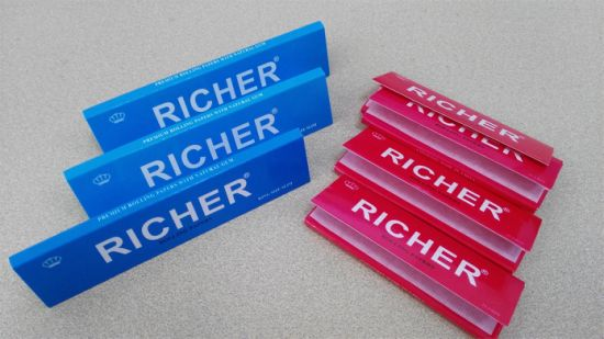 Popular Richer Brand 18g Rolling Paper King Size Slim pictures & photos