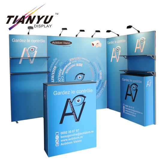 Wholesale China Factory Tension Fabric Foldable Trade Show Exhibition