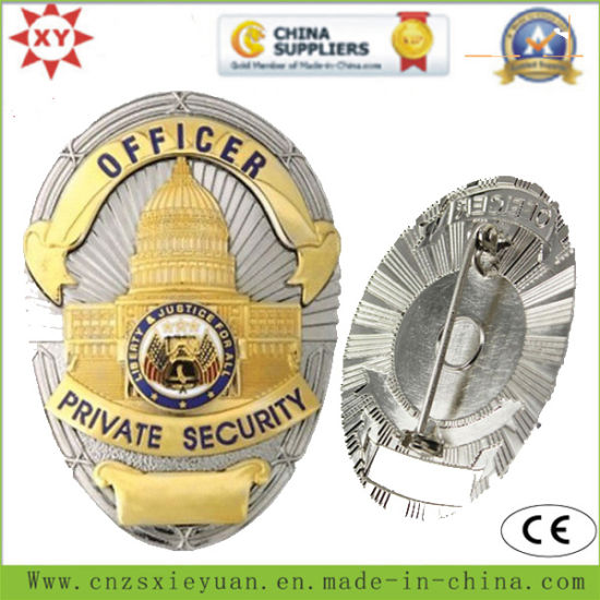 Brass Custom Logo Private Security Badges