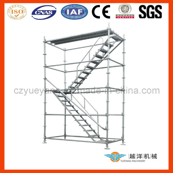 Aluminum/Aluminium Ringlock Scaffolding System Ladder with Light Weight