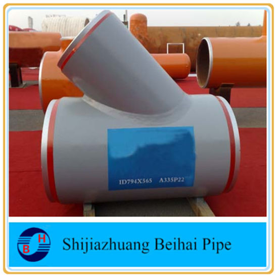 B16.9 Alloy Steel A234wp5 45deg Sch80 Lateral Tee