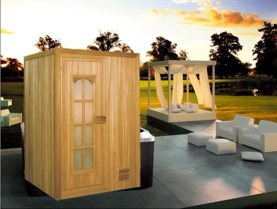 Traditional Classic Steam Infrared Sauna House Finland Wood 1 Person Sauna Room with Sauna Stove (M-6009)