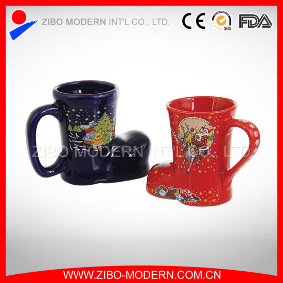 Wholesale Mug in Shoes Shape with Christmas Design pictures & photos