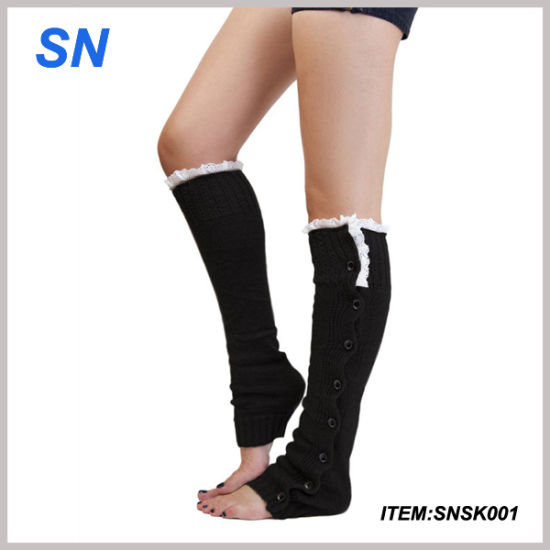 Lady′s New Socks Lace Fashion Boot Leg Warmer pictures & photos