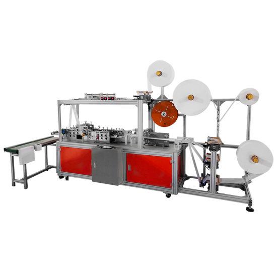 High Speed Elastic Band 3 Ply Flat Mask Positioning Mask Body Making Machine200-500PCS/Min