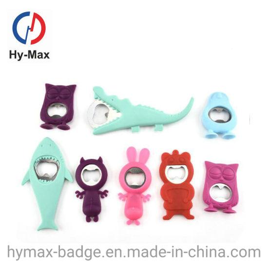 Factory Cheap Custom Design Soft PVC Rubber Bottle Opener Custom Design PVC Fridge Magnet with Bottle Opener