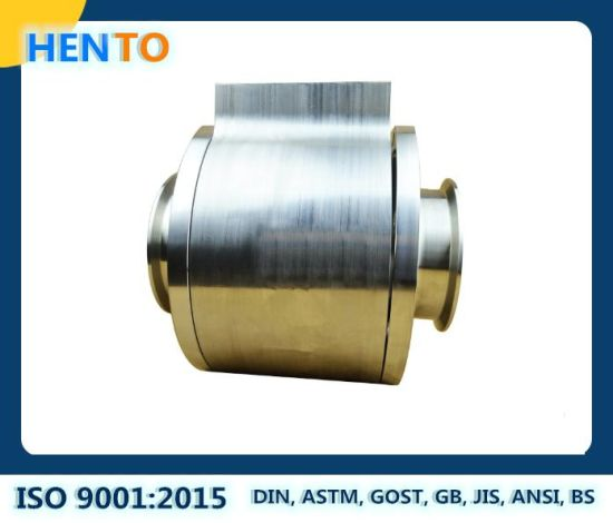 OEM Three Pieces CNC Machining Parts High Purity Stainlesss Steel Hygienic Ball Valve Parts