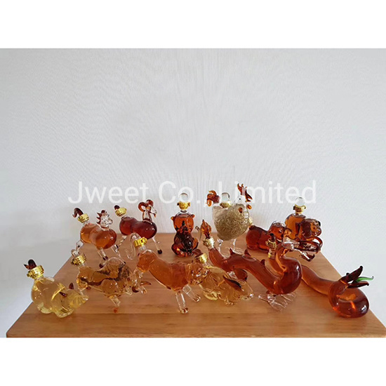 200ml OEM Chinese Zodiac Wine Glass Bottle for Rum