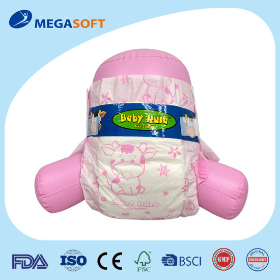 Economic PE Backsheet Baby Diaper with Blue Adl