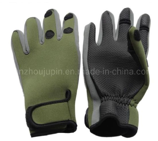 OEM Outdoor Winter Warm All Finger Anti-Skid Fishing Gloves