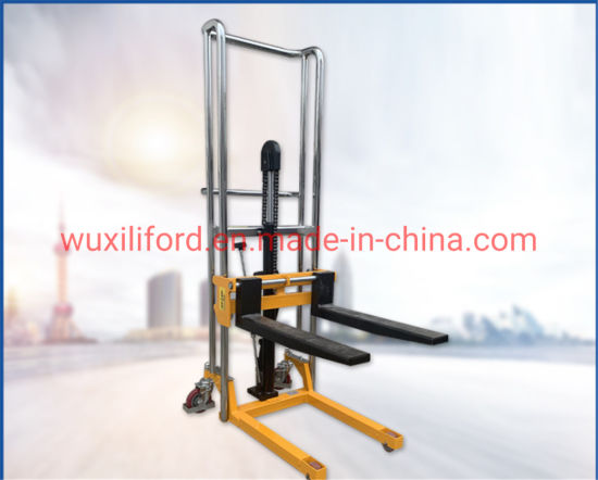 Manual Operate Pallet Stacker 400kg 1500mm Lifting Height
