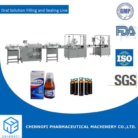 Oral Solution Filling and Cap Sealing Porduction Line