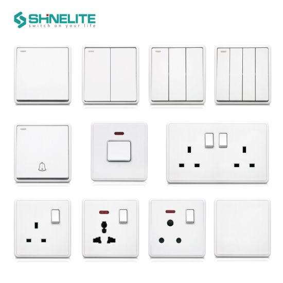 Multi Colors Maximized Button Brushed Plate Wall Switch