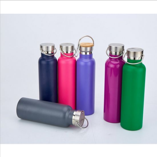 600ml Amazon Hot Selling Custom Stainless Steel Vacuum Sports Water Bottle with Different Lid