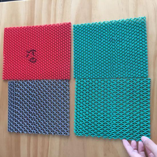 Anti-Slip Wear Resistance PVC S Mat for Bathroom