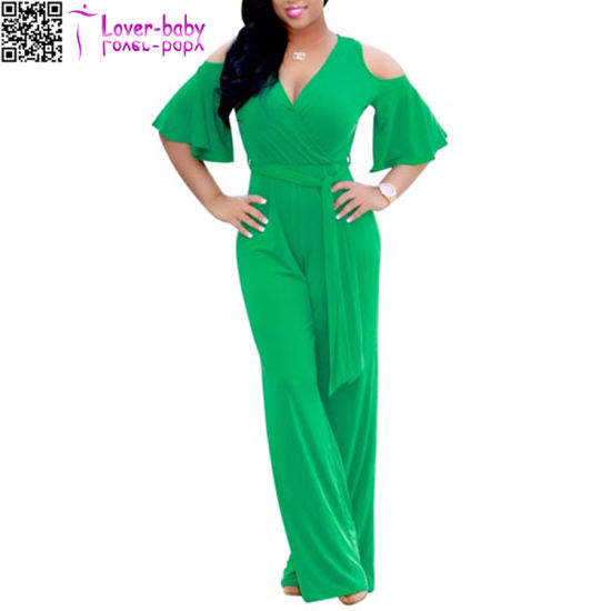 Fashion Women Sexy Carmen Jumpsuit Dress L55322-1 pictures & photos