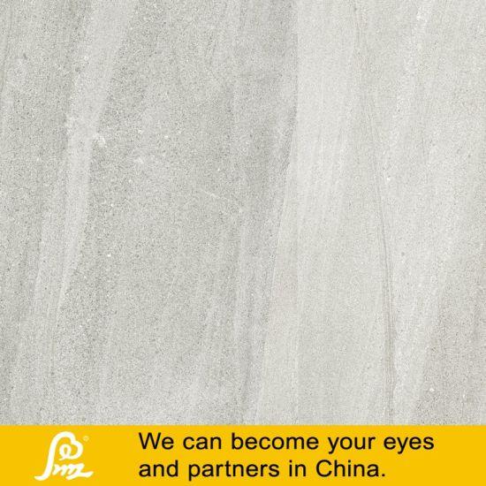 China Light Grey Stone Tile Rustic Porcelain Flooring Tile - China ...