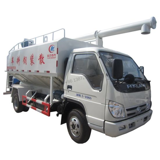 Foton Forland 10m3 5tons Bulk Pig Chicken Feed Tank Truck for Sale