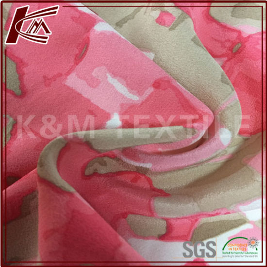 Custom Printed Silk Cdc 100% Silk Crepe Fabric for Dress pictures & photos
