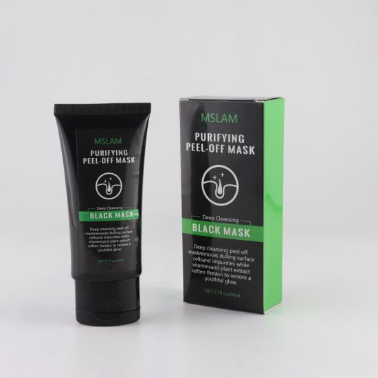 Private Label Charcoal Blackhead Remover Peel off Black Mask Deep Cleansing Black Facial Mask
