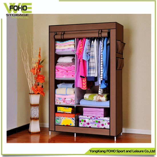 Modern Door Curtain Non-Woven Cloth Custom Wardrobe Armoire pictures & photos