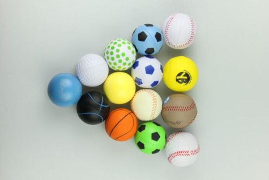 2017 Cheap Custom Logo Printed Different Shape Soft Foam Stress Ball pictures & photos