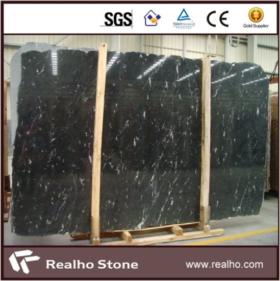 Brazillian Leather Black Via Lactea Granite Slab Price