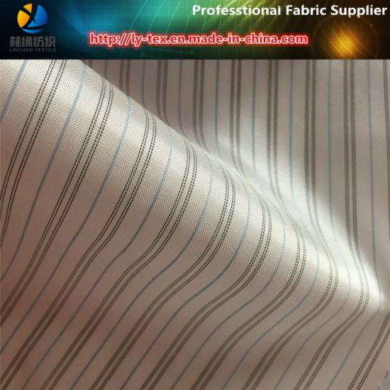 Pink Cheap Polyester Stripe Lining Fabric for Men Suit/Garment (S114 116)