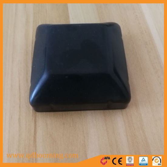 Customized Size Powder Coated or Galvanized Round Cap or Square Cap for Pipe Use