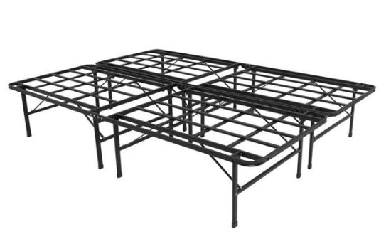 Twin Full Queen Size Bed Frame Metal, Foldable Queen Bed Frame With Storage