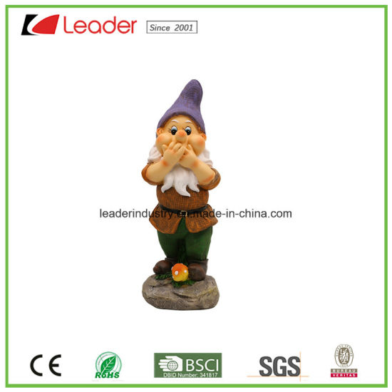 Lovely Polyresin Garden Gnome Figurine Hear No Evil for Home and Lawn Decorative pictures & photos