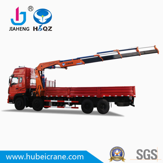 Wholesale Manufacture New HBQZ SQ400ZB4 20 Ton Truck Mounted Knuckle Boom crane for building