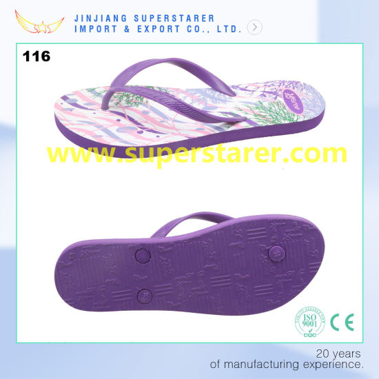 975ff8b1e5cd China Promotional Cheap PE Flip Flops Lady Shoes Wholesale - China ...