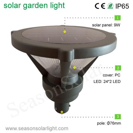 Factory Supply Alu Material Top Housing Garden Lighting Post Outdoor Solar For Courtyard Villa