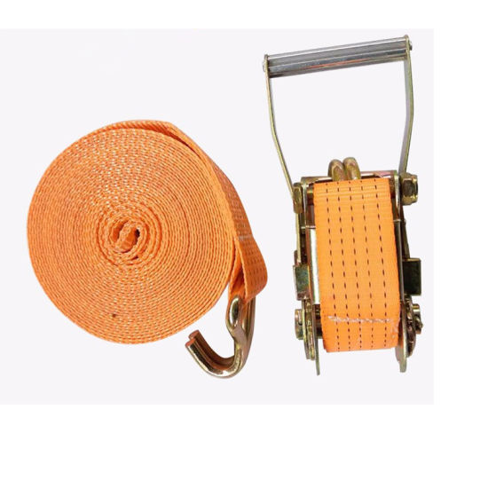 100% Polyester Cargo Lashing Ratchet Strap Belt with Ratchet Buckle 25mm-100mm