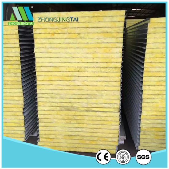 50mm Fireproof Steel Rock Wool Sandwich Panel for Wall pictures & photos