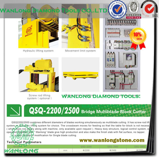 China Stone Block Cutter Blades And Machines Wanlong Stone Tools