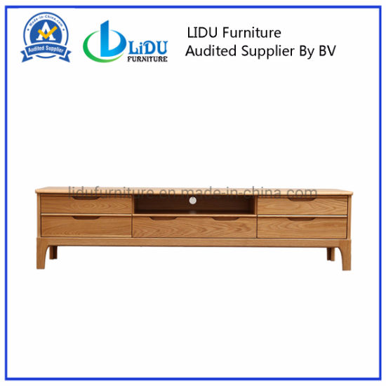Oak Wood TV Stand Wooden Table with High Quality/Rustic TV Stand/Entertainment Centers and TV Stands pictures & photos