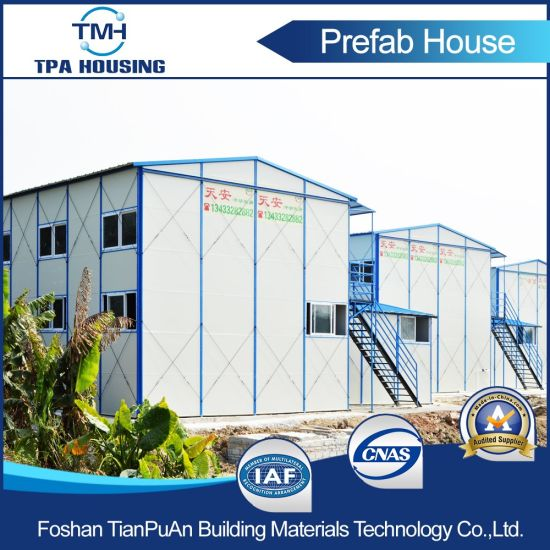 Fast Assembly Steel Sandwich Prefabricated House Kit for Temporary House pictures & photos
