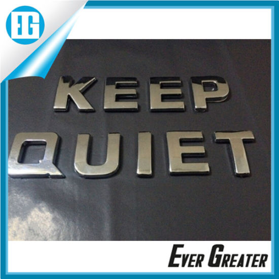 China Waterproof Chrome Letters Stickers for Decoration   China