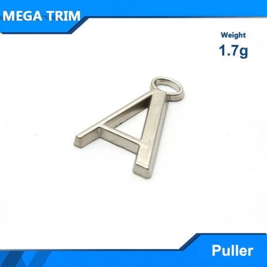 Silver Word Shape Metal Zipper Puller