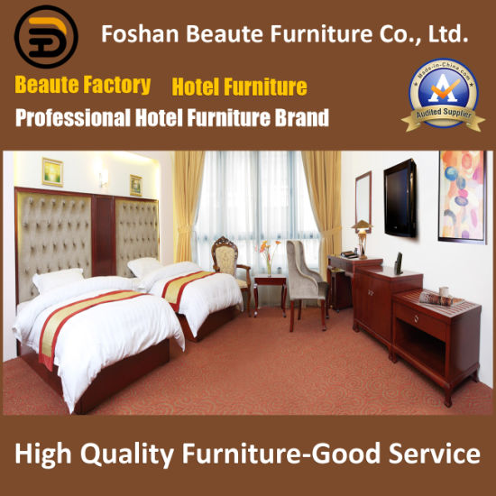 Customized Wooden Modern Hotel Double Bedroom Furniture for India