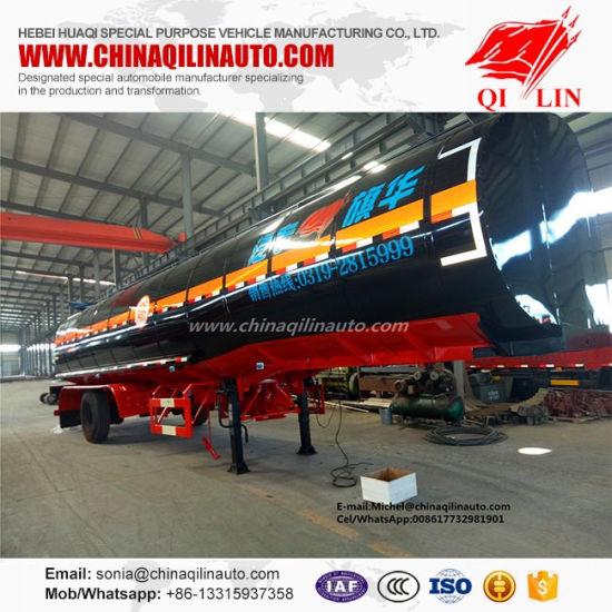 China Axel BPW Carbon Steel Tank Trailer for Coal Tar Semi Trailer