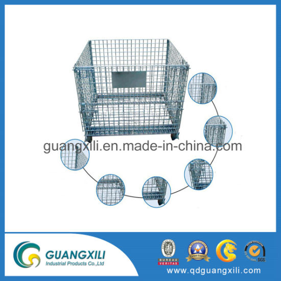 Heavy Duty Galvanized Collapsible Warehouse Steel Wire Mesh Pallet pictures & photos